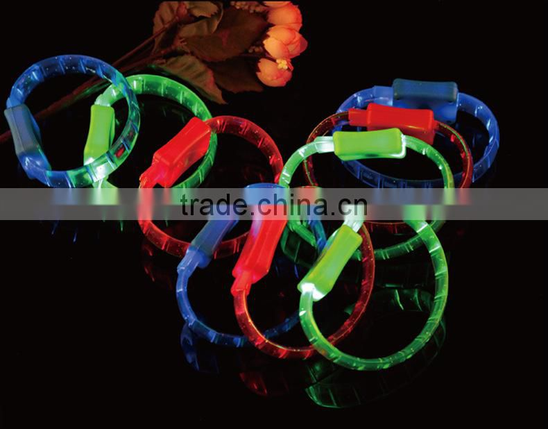 wholesale china cheap flexible glue light bracelet flashlight led bracelets /