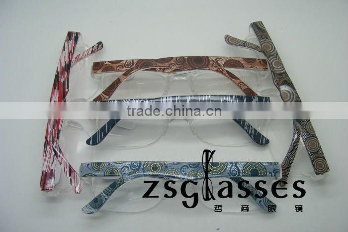2012 Cheap fashion Colorful glasses frame reading glasses