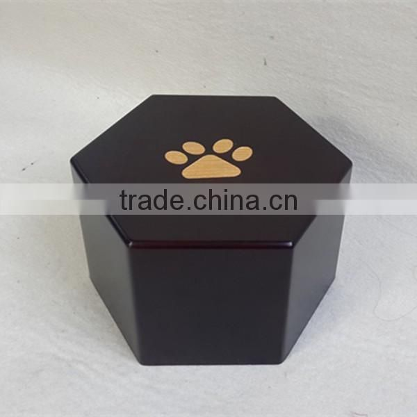 Large solid pine wood pet cremation urns