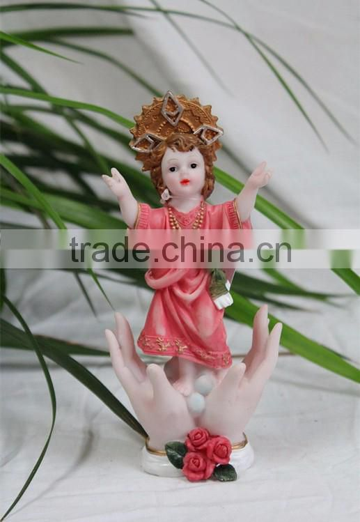 Religious holy kid baby jesus christ figurine christmas ornaments