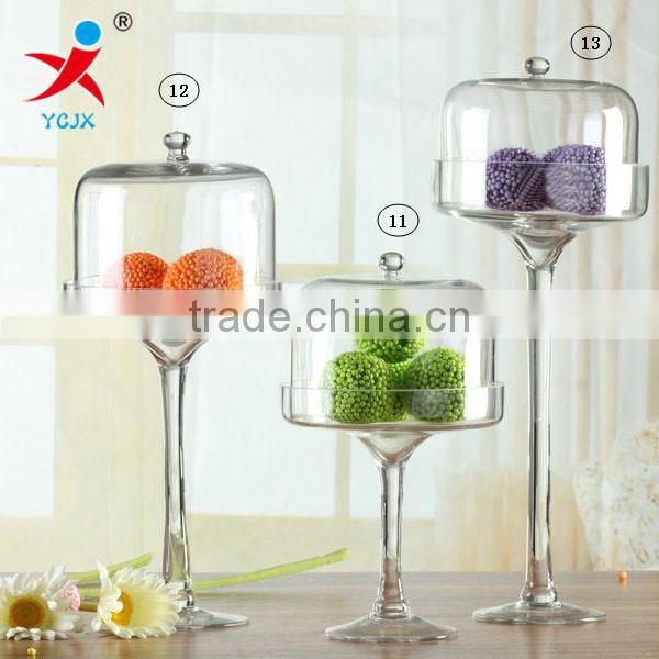 Heat resistant seal and clear Storage for Whole grains/Transparent glass container for candy &tea with transparent lids