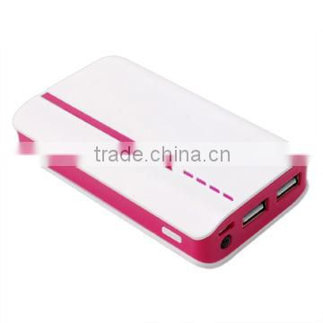2014 New Design 8000mAh Fast Charging High Capacity External compact portable power bank