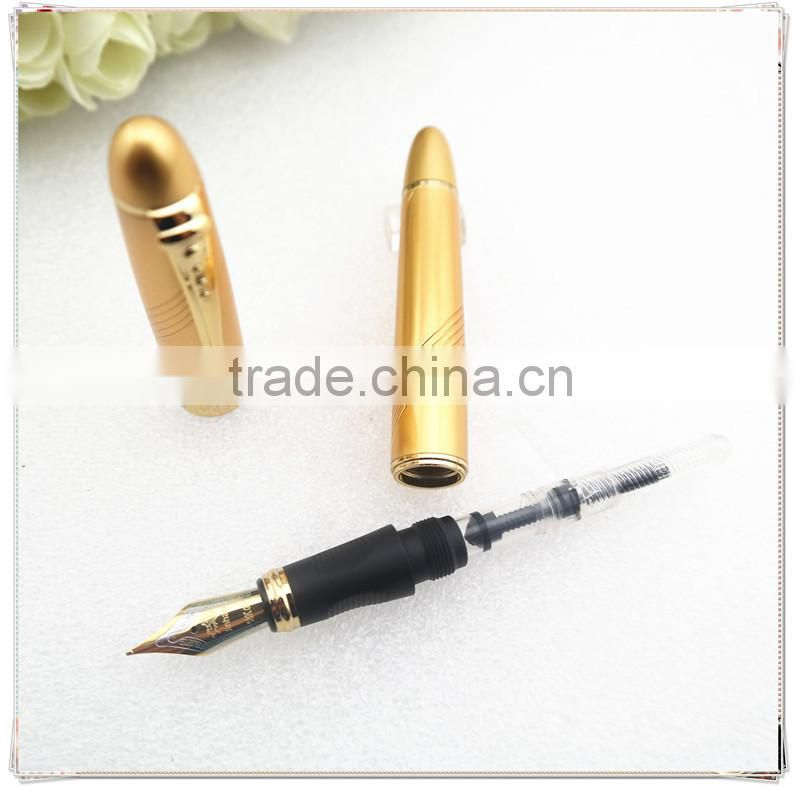 High-quality golden fountain pen , lnk pen with gold