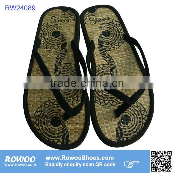 new models handmade lady woven straw slippers