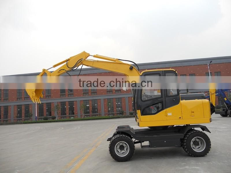 6t New Condition Wheel Moving Type excavator