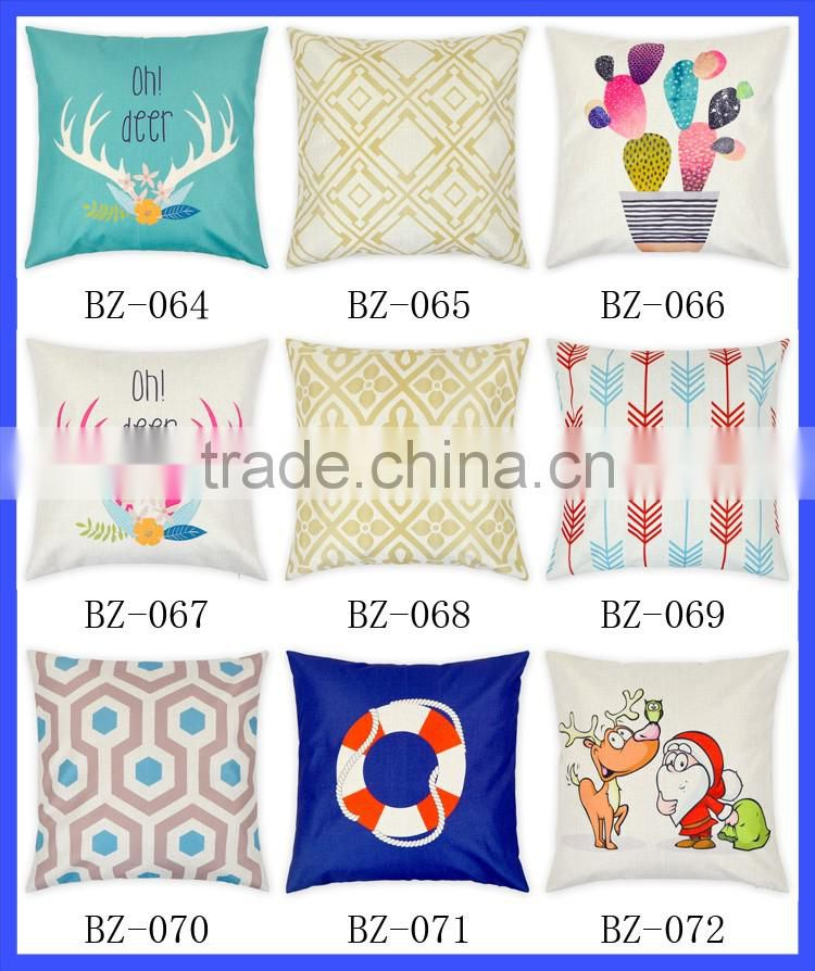 Fashion Digital Printing Small House Decorative Throw Pillow Case Cushion For Sofa
