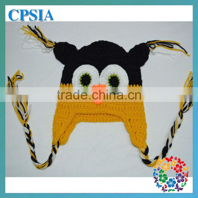 Hot Selling Owl Hat for Baby in Undyed Alpaca size 6-12 months Earflaps owl hat for kids