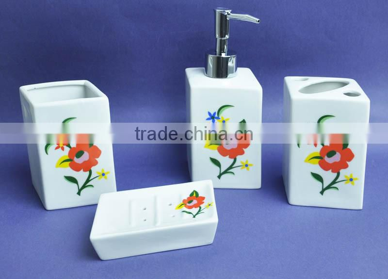 ceramic bathroom set with dolphin design