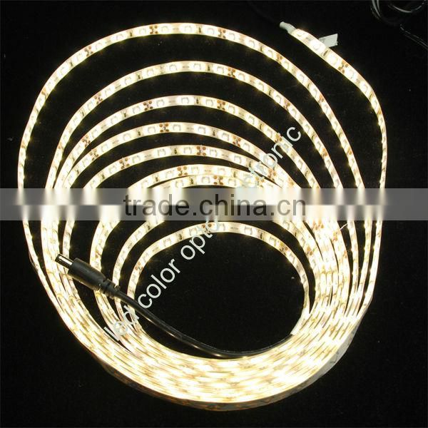 New design 12V 3528 led strip light for clothes with led strip connector