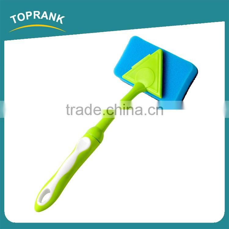 Toprank Colorful TPR Long Handle Kitchen Pan Dish Cleaning Sponge Scouring Pad High Absorbent Sythetic Scrub Cleaning Pad