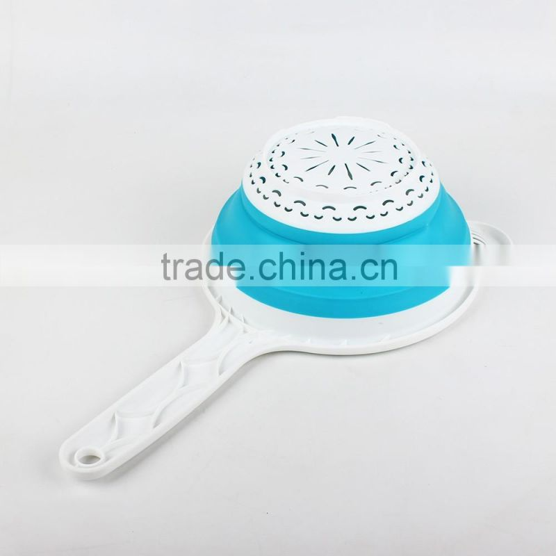 China manufacture cartoon shaped eco-friendly Collapsible Strainer with handle