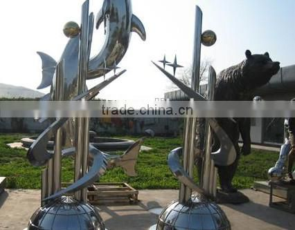 Casting Morden Art Stainless Steel Abstract Sculpture For Garden Decoration