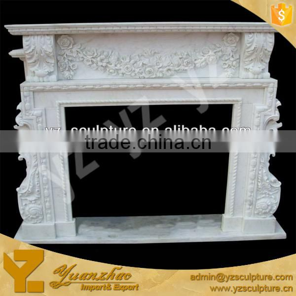 cultured white beautiful marble fireplace freestanding fireplace