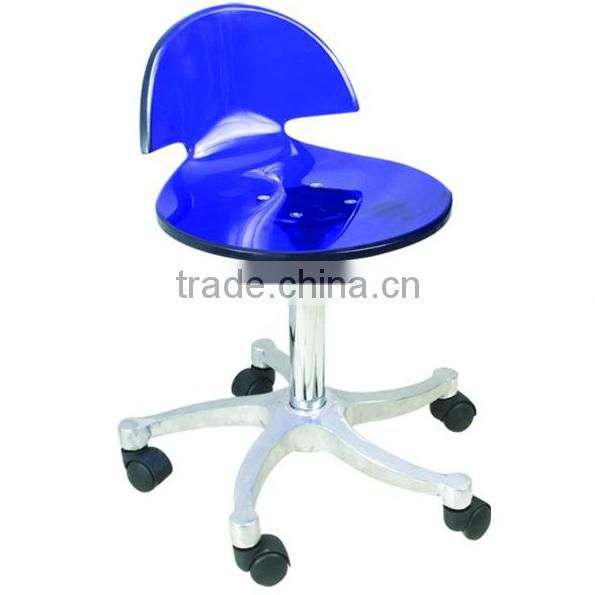 Potable movable Ottoman stool hydraulic chair with wheels used salon furniture F-805