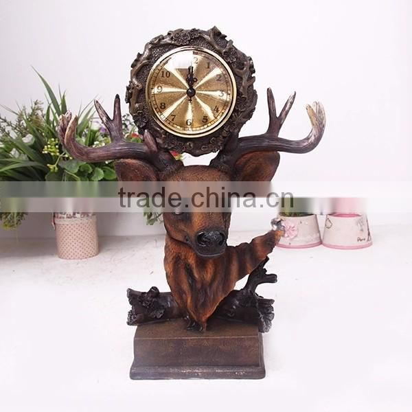 New design classic low price wooden table clock
