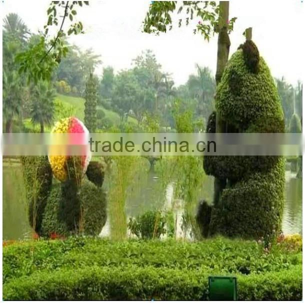 outdoor decorative plastic animal topiary ornamental artificial grass animal