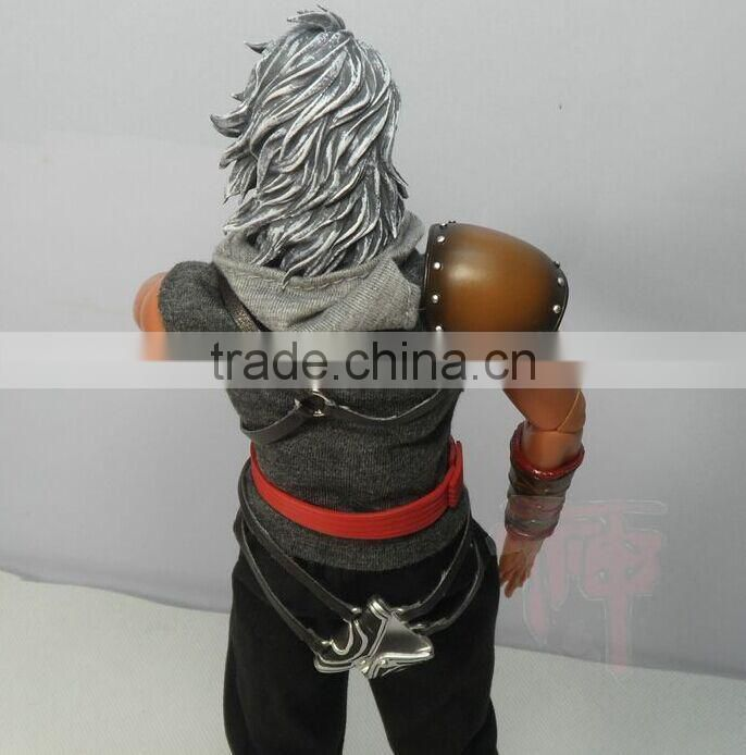 Plastic cartoon action figure,cool man with a sword,custom action figure/plastic toys for kids