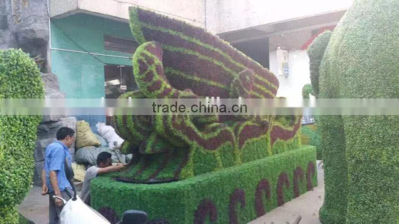 artificial plastic green sculpture for decoration fake garden