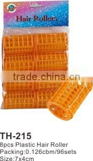 8pcs Foam Plastic Hair Rollers TH215