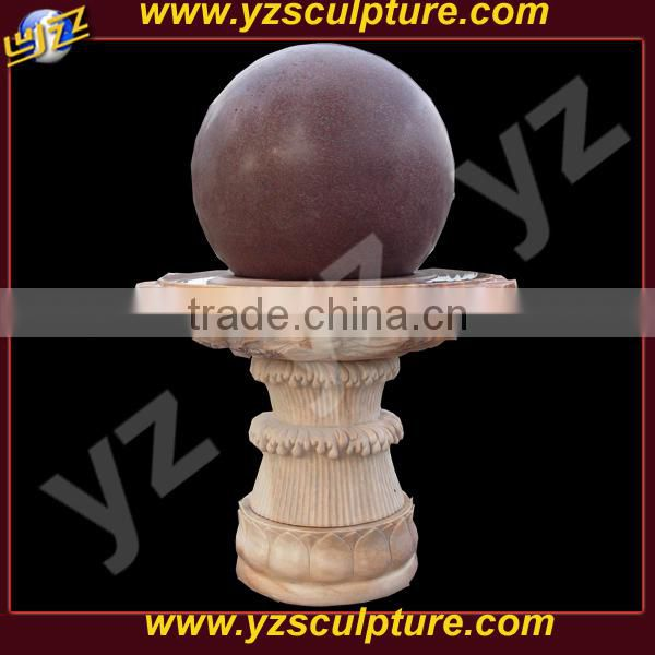 natural marble rolling ball water fountain for sale