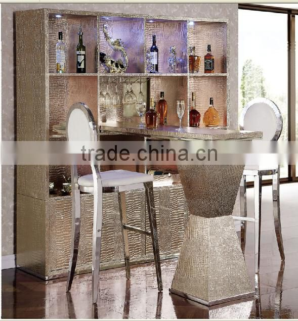 high quality stainless steel legs fashional wine cabinet for hotel design