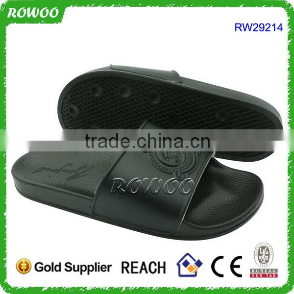 White PU brand slippers for Hotel and Indoor