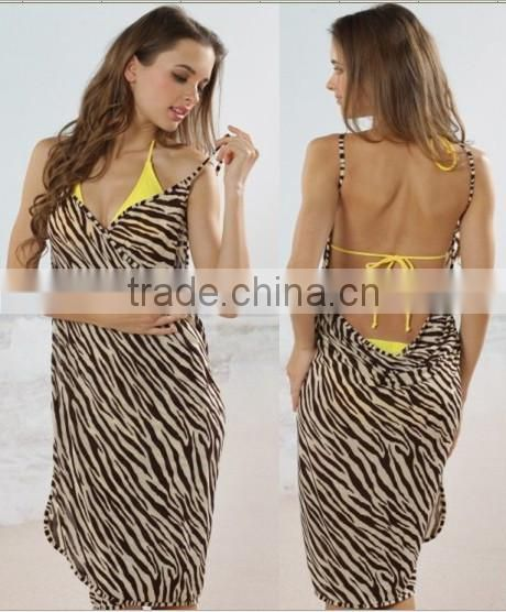 Sexy fashion women beach wear wrap around skirt