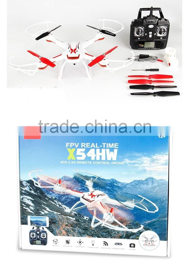 Syma X54HW WIFI FPV With 720p HD camera High Hold Mode 2.4G 4CH 6Axis RC Quadcopter RTF