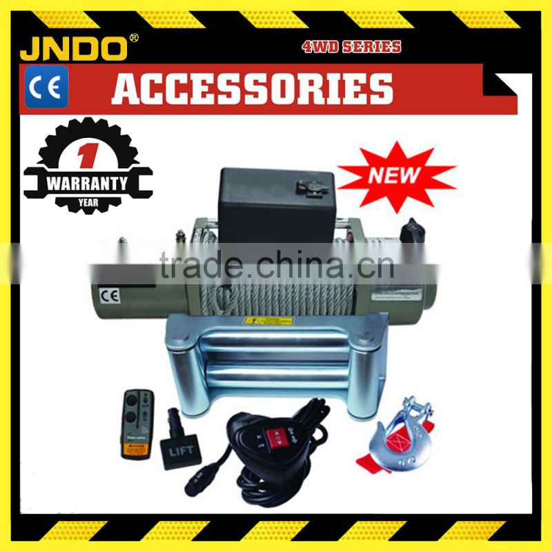 12V 24V 12000lbs electric winch with 500A solenoid