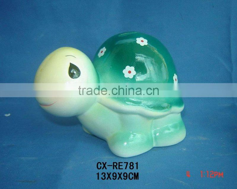 ceramic money coin bank--dolomite animal shape money box--porcelain regular coin bank