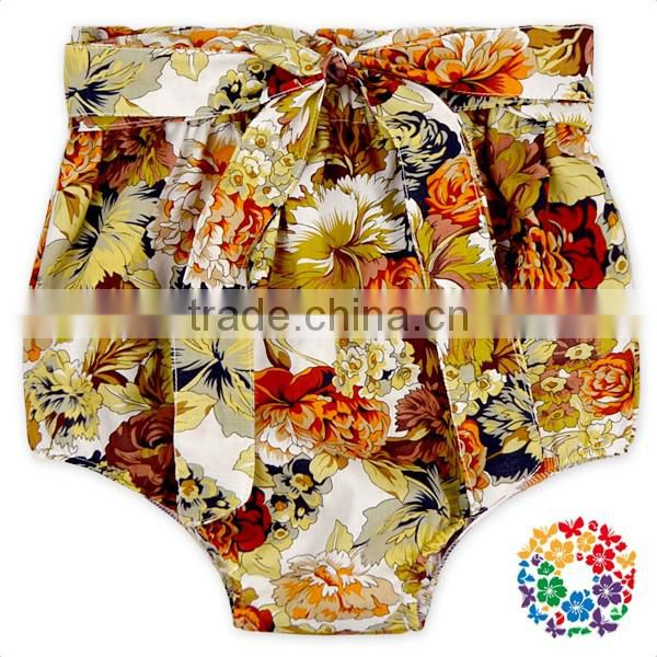 Infant And Toddler Bowknot Back Tutu Bloomer Baby Cotton Floral Pattern Cloth Diapers