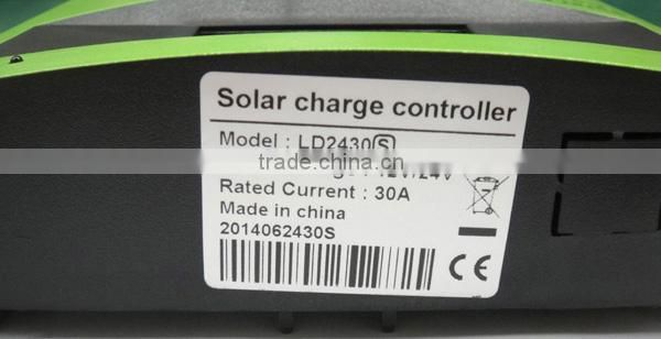 PWM solar charge controller with LCD screen