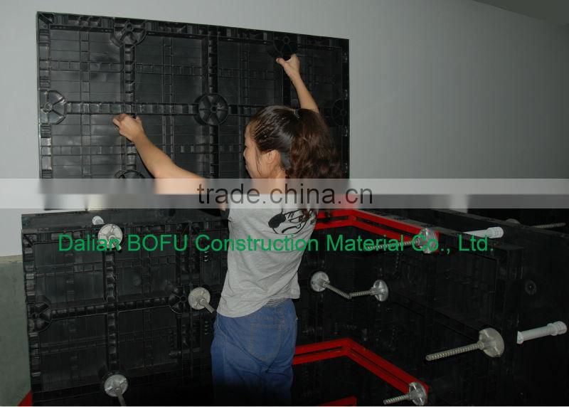 Chinese plastic modular formwork system for column and slab in construction and building