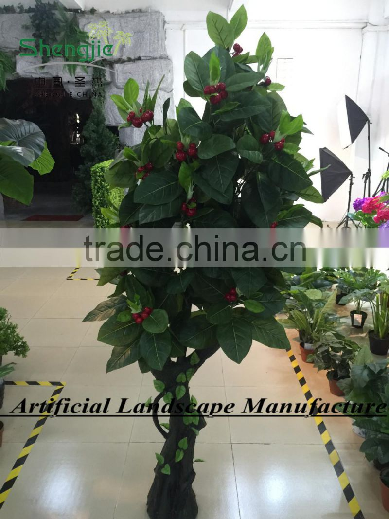 SJ10#110019004 indoor artificial apple tree bonsai ,2015 new arrival and high simulation tree GuangZhou