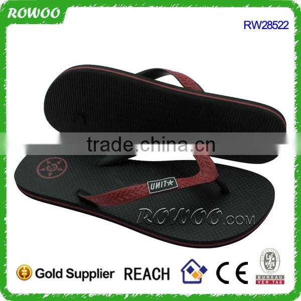 Classic basic Black summer cheap Men And Women Rubber beach flip flops
