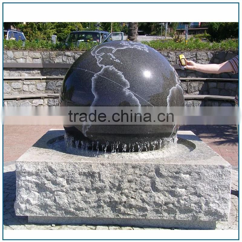Beautiful Floating Water Fountain Ball With Map Statue