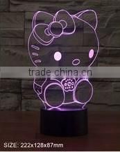 3D vision creative rhinoceros shape LED light USB charging desk night light