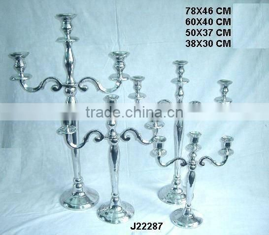 Antique brass finish Cast Aluminium candelabra other finish available