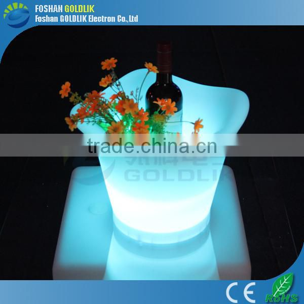 LED colorful plastic cheap ice bucket for economical users GKP-427RT