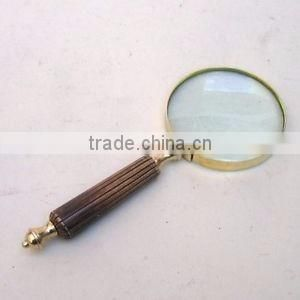 brass antique nauticals magnifing glass