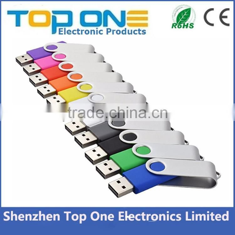 Wholesale swivel type pendrive bulk charger stick usb flash drive with customized logo 1GB, 2GB,4GB, 8GB, 16GB