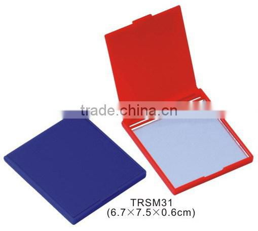 Foldable plastic pocket mirror/square single side cosmetic mirror