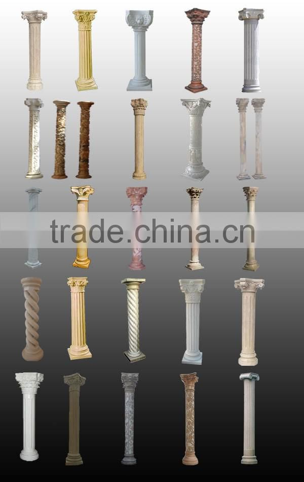 home decoration roman stone pillar caps for sale NTMF-CP003Y