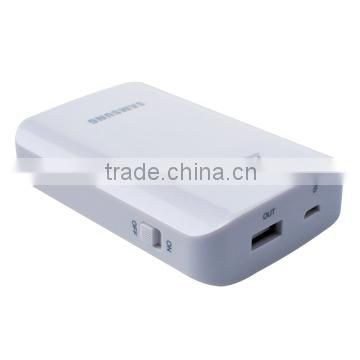 Classic portable back & white power bank 8400mAh power bank charger with CE/ROHS/FCC certificated