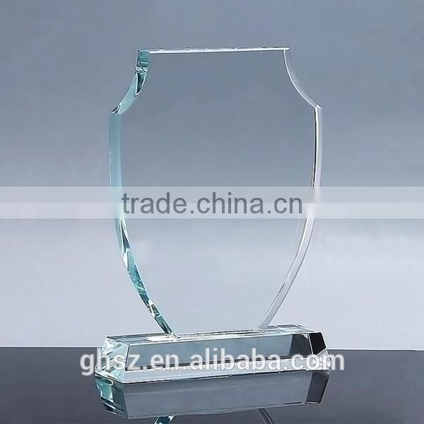 Custom awards souvenir gift custom logo crystal glass trophy