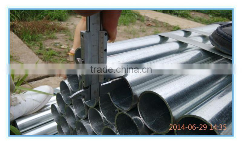 china supplier galvanized welded round steel pipe water pipes