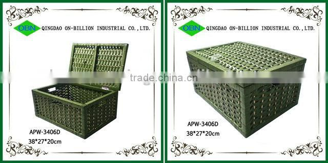 Durable wicker storage boxes&bins