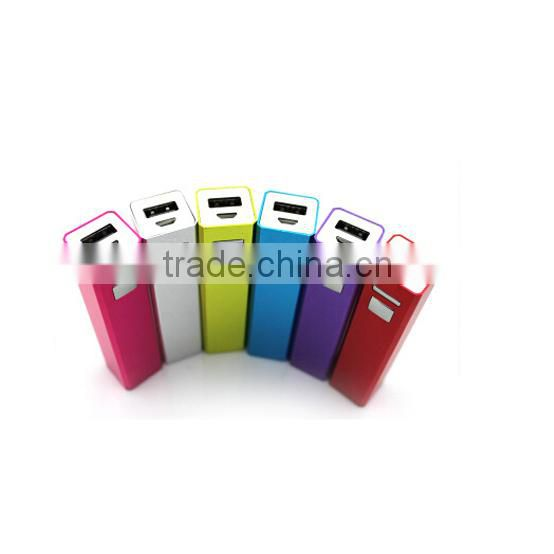 Flexible mini usb aluminium lipstick power bank 2600mah for smartphones