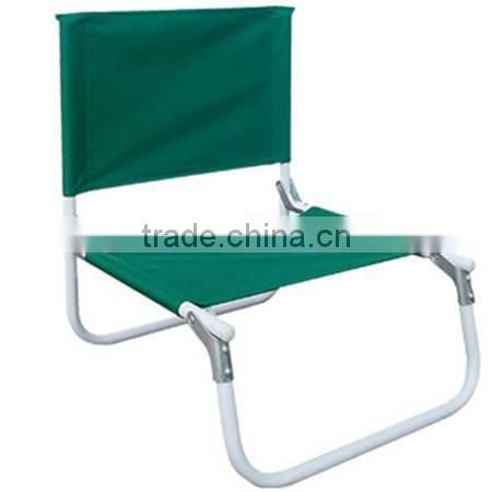 Folding steel tube low seat picnic chair
