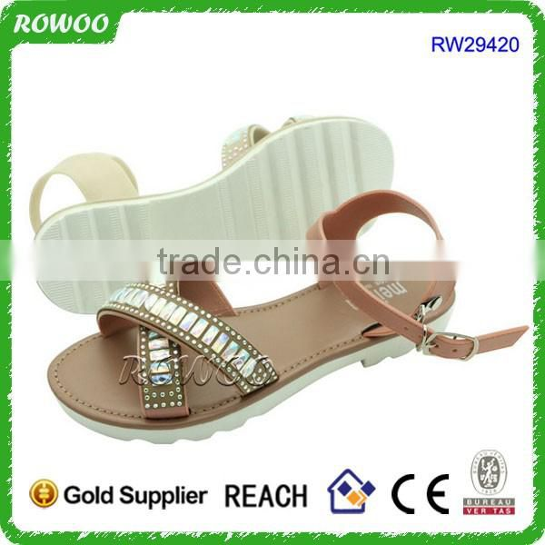 2016 Lovely New Designs Flat Sandals China Wholesale Sandals For Lady